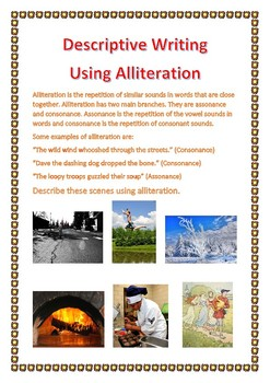 Descriptive Writing Using Alliteration