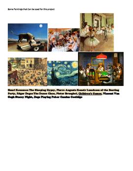 Descriptive Writing Using Famous Art and the 5 Senses