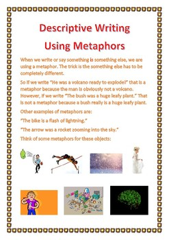 Descriptive Writing Using Metaphors