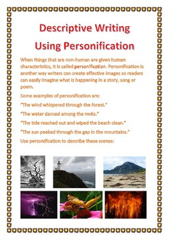 Descriptive Writing Using Personification