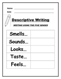 Descriptive Writing Using the 5 Senses