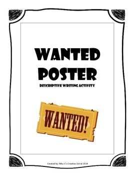 Descriptive Writing - Wanted Ad