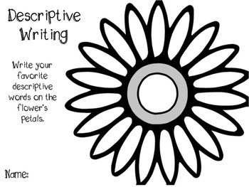 Descriptive Writing Word Search