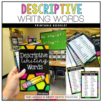 descriptive writing words by sweet tooth teaching tpt
