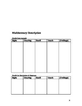 Descriptive Writing Workbook
