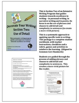 Descriptive Writing - adding detail with phrases and clauses