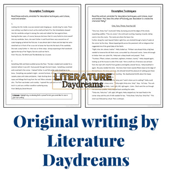 Descriptive Writing extracts and mentor texts