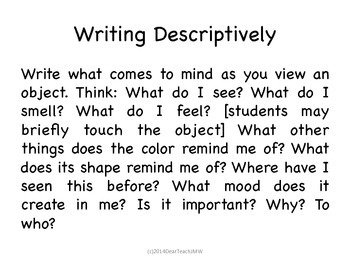 Descriptive Writing for Everyone