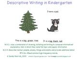 Descriptive Writing in Kindergarten