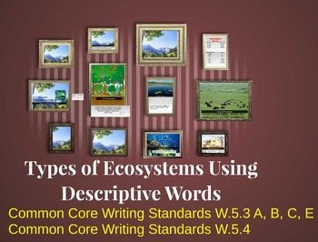 Types of Ecosystems Descriptive Writing Lesson Plan (Every