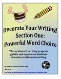 Descriptive Writing - powerful vocabulary (word choice)