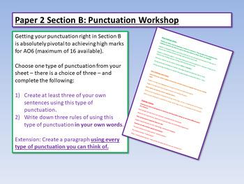 Descriptive Writing - punctuation