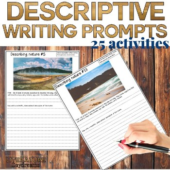 Descriptive writing activities