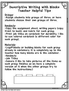 Descriptive Writing with Blocks