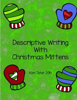 Descriptive Writing with Christmas Mittens