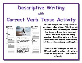 Descriptive Writing with Correct Verb Tense Activity