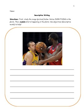 Descriptive Writing with Pictures