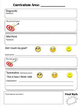 Descriptive feedback template