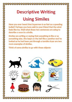 Descriptive Writing Using Similes