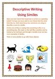 Descriptive Writing Using Similes