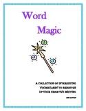 Descriptive Vocabulary for the Creative Writing Process