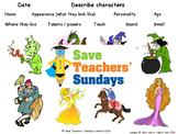 Descriptive Writing - Describing Characters (PowerPoint Slide and Model Example)