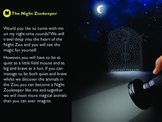 Descriptive writing - Night Zookeeper resources part 1