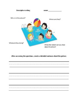 Descriptive writing activities