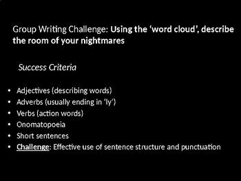 Descriptive writing- room of my nightmares