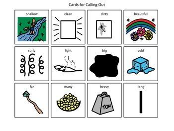 Descriptors BINGO game, Fun with Language