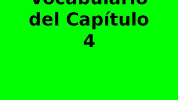 Descubre 1 - Chapter 4 Vocabulary