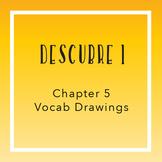 Descubre 1 Chapter 5 Vocab Drawings