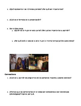 SHOPPING/CLOTHES listening assessment - can be used as MYP assessment