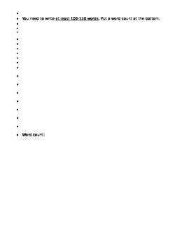 Shopping/clothes writing activity - can use w/ Descubre 1 Lección 6