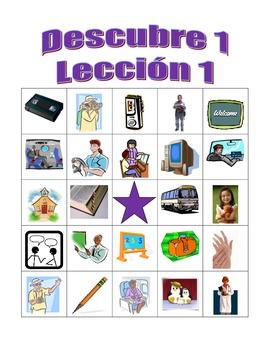 Descubre 1 Lección 1 Bingo game
