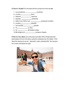 Descubre 1 Lección 1: Subject pronoun and ser: Quiz 4