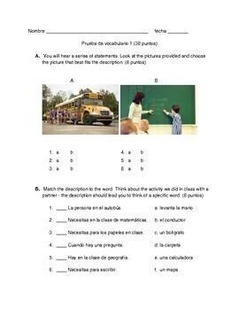 Descubre 1 Lección 1: Vocabulary Quizzes 1-2