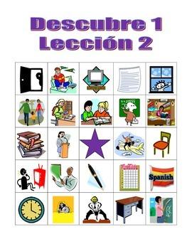 Descubre 1 Lección 2 Bingo game