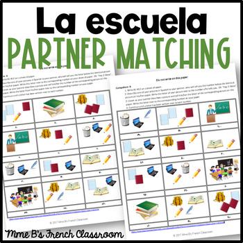 Descubre 1 Lección 2: School supplies partner matching game