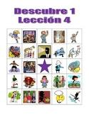 Descubre 1 Lección 4 Bingo game