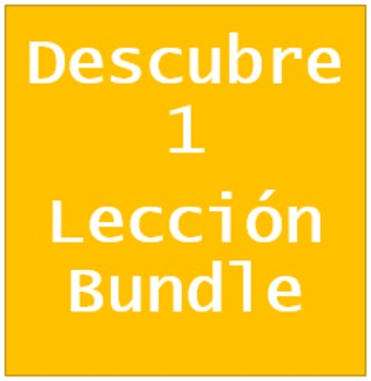 Descubre 1 Lección 4 Bundle