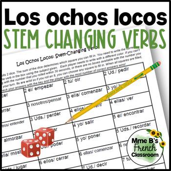 Descubre 1 Lección 4: Crazy 8s for practicing stem-changing verbs
