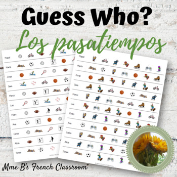 Descubre 1 Lección 4: Guess Who?  Los pasatiempos partner speaking game