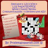 Descubre 1: Lección 4 Los Pasatiempos Whole Chapter Review