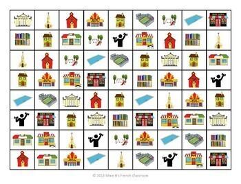 """Descubre 1 Lección 4: Places and the verb """"ir"""" 4-In-A-Row Game"""