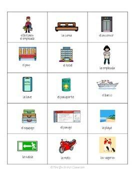 Descubre 1 Lección 5: Las vacaciones Bingo