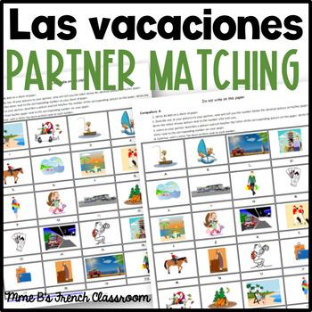 Descubre 1 Lección 5: Las vacaciones partner matching activity