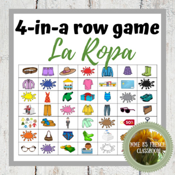 Descubre 1 Lección 6: 4-In-A-Row game La ropa y los colores/clothing and colors