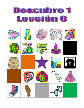 Descubre 1 Lección 6 Bingo game