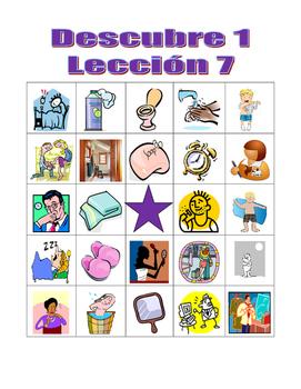 Descubre 1 Lección 7 Bingo game